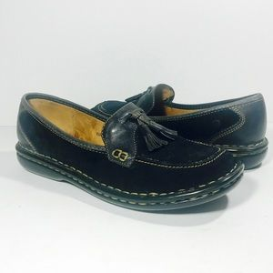 BORN US 8 Inga Navy Slip On Tassel Loafers